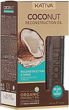 Parfums et Produits cosmétiques Huile capillaire revitalisante - Kativa Coconut Reconstruction Oil