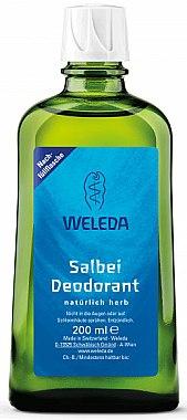 Déodorant au suage pour le corps - Weleda Sage Deodorant Refill Bottle (recharge)