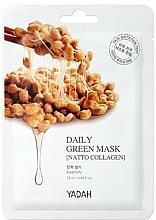 Parfums et Produits cosmétiques Masque tissu au collagène pour visage - Yadah Daily Green Mask Natto Collagen