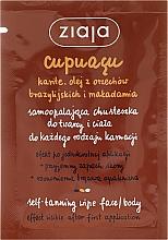 Parfums et Produits cosmétiques Lingette autobronzante pour corps et visage - Ziaja Cupuacu