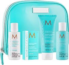Parfums et Produits cosmétiques MoroccanOil - Set (shampooing/70ml + après-shampooing/70ml + masque/75ml + traitement/25ml + trousse de toilette)