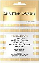 Parfums et Produits cosmétiques Masque de luxe illuminant et liftant à l'or 24 carats pour visage - Christian Laurent Luxury Illuminating And Lifting 24K Gold Face Mask