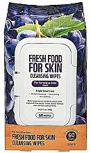 Parfums et Produits cosmétiques Lingettes nettoyantes à l'extrait de raisin pour visage - Superfood For Skin Fresh Food Facial Cleansing Wipes