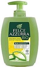 Parfums et Produits cosmétiques Savon liquide bio, Aloe vera et Citron - Felce Azzurra BIO Aloe Vera & Lemon Liquid Soap