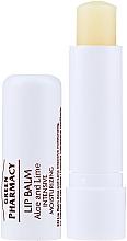 Parfums et Produits cosmétiques Baume à lèvres à l'aloe vera et lime SPF 10 - Green Pharmacy Lip Balm With Aloe And Lime