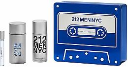 Parfums et Produits cosmétiques Carolina Herrera 212 Men NYC - Coffret (eau de toilette/100ml + déodorant/150ml + eau de toilette/10ml)