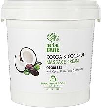 Parfums et Produits cosmétiques Crème de massage au beurre de cacao et huile de coco - Bulgarian Rose Herbal Care Cocoa & Coconut Massage Cream Odorless