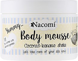 Parfums et Produits cosmétiques Mousse à la noix de coco et banane pour corps - Nacomi Body Mousse Coconut-Banana Shake