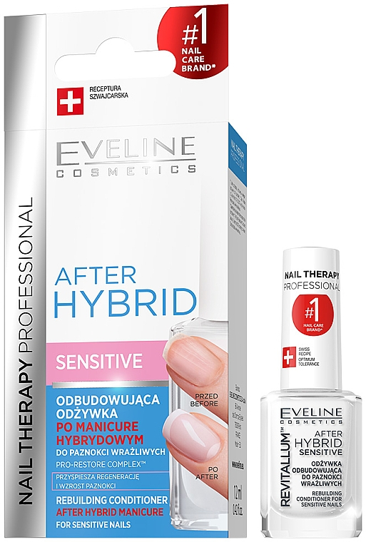 Durcisseur revitalisant pour ongles - Eveline Cosmetics After Hybrid Rebuilding Conditioner