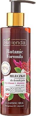 Lait démaquillant à l'huile de grenade et amarante pour visage et yeux - Bielenda Botanic Formula Pomegranate Oil + Amaranth Cleansing Milk