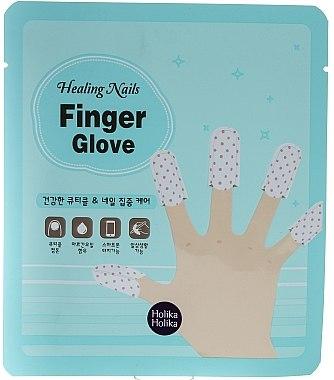 Masque tissu à l'huile de jojoba pour ongles - Holika Holika Healing Nails Finger Glove