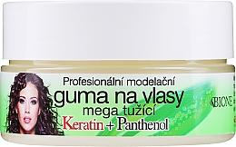 Parfums et Produits cosmétiques Gomme coiffante à la kératine et panthénol fixation ultra forte - Bione Cosmetics Keratin + Panthenol Professional Ultra Strong Sculpting Rubber