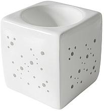 Parfums et Produits cosmétiques Brûleur à tartelettes de cire, blanc - Flagolie By Paese Cube Fireplace White
