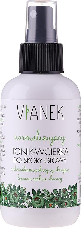 Tonique à l'extrait d'ortie et huile de romarin et eucalyptus pour cheveux - Vianek Normalizing Hair Tonic