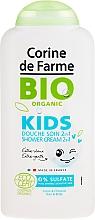 Parfums et Produits cosmétiques Douche soin 2 en 1 pour corps et cheveux, Pensée des jardins et Cerise - Corine de Farme Bio Organic Shower Gel