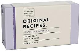 Parfums et Produits cosmétiques Savon, Géranium et Lavande - Scottish Fine Soaps Original Recipes Geranium & Lavender Luxury Soap Bar