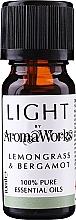 Parfums et Produits cosmétiques Huile essentielle Citronnelle et bergamote - AromaWorks Light Range Lemongrass and Bergamot Essential Oil