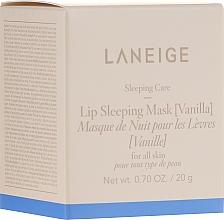 Parfums et Produits cosmétiques Masque de nuit à l'arôme de vanille pour lèvres - Laneige Sleeping Care Lip Sleeping Mask Vanilla