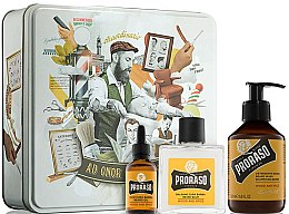 Parfums et Produits cosmétiques Kit soin barbe - Proraso Wood & Spice Beard Kit (baume/100ml + shampoing/200ml + huile/30ml)