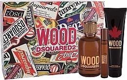 Parfums et Produits cosmétiques Dsquared2 Wood Pour Homme - Coffret (eau de toilette/100ml + eau de toilette/10ml + gel bain et douche/150ml)