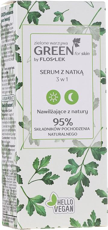 Sérum-gel-masque à l'extrait de persil pour visage et cou - Floslek Green For Skin Serum — Photo N2