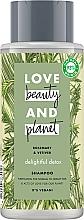 Parfums et Produits cosmétiques Shampooing au romarin bio - Love Beauty&Planet Delightful Detox Rosemary & Vetiver Vegan Shampoo