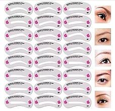 Parfums et Produits cosmétiques Chablons pour sourcils, 24 pcs - Deni Carte
