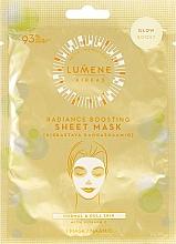 Parfums et Produits cosmétiques Masque tissu éclaircissant à la vitamine C pour visage - Lumene Kirkas Radiance Boosting Sheet Mask
