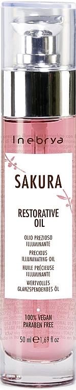 Huile illuminante pour cheveux - Inebrya Sakura Restorative Oil