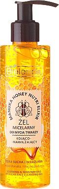 Bielenda Manuka Honey Gel Micelar - Gel micellaire apaisant et hydratant au miel de Manuka et gelée royale pour visage