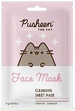 Parfums et Produits cosmétiques Masque tissu à l'huile de camélia pour visage - Pusheen Cleansing Sheet Mask