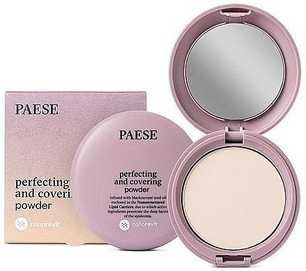 Poudre compacte matifiante pour visage - Paese Perfecting & Covering Nanorevit Powder