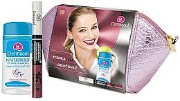 Parfums et Produits cosmétiques Kit de maquillage - Dermacol (rouge à lèvres/4,8 g + démaquillant/120ml + trousse de toilette)