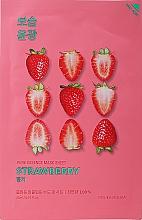 Parfums et Produits cosmétiques Masque tissu à la fraise pour visage - Holika Holika Pure Essence Mask Strawberry