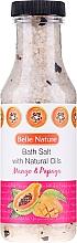 Parfums et Produits cosmétiques Sel de bain à l'huile naturelle de mangue et de papaye - Belle Nature Bath Salt