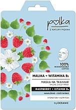 Parfums et Produits cosmétiques Masque tissu à la vitamine B3 pour visage - Polka Raspberry And Vitamin B3 Facial Sheet Mask