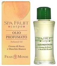 Parfums et Produits cosmétiques Frais Monde Spa Fruit Peach And White Musk Perfumed Oil - Huile parfumée Pêche et Musc Blanc