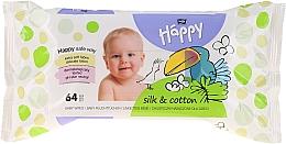 Parfums et Produits cosmétiques Lingettes nettoyantes à la soie et coton - Bella Baby Happy Silk & Cotton