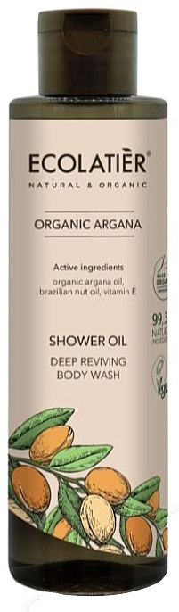Huile de douche à l'huile d'argan bio et vitamine E - Ecolatier Organic Argana Shower Oil