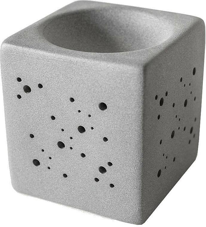 Brûleur à tartelettes de cire, gris - Flagolie By Paese Cube Fireplace Grey — Photo N1
