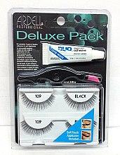Parfums et Produits cosmétiques Faux-cils avec colle, 2 paires - Ardell Deluxe Pack 109 Black