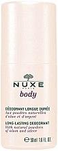 Parfums et Produits cosmétiques Déodorant roll-on aux poudres naturelles d'alun et d'argent - Nuxe Body Long-Lasting Deodorant