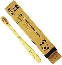 Parfums et Produits cosmétiques Brosse à dents en bambou, souple, beige - Zuzii Kids Soft Toothbrush