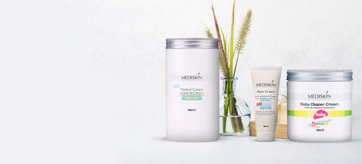 Lorsque vous achetez un protecteur de couche et une lotion pour le corps multifonctionnelle Mediskin, vous recevez une crème pour le corps en cadeau