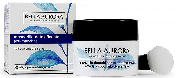 Masque à l'argile verte et thé matcha pour visage - Bella Aurora Anti-Dark Spot Detoxifying Mask — Photo N1
