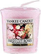 Parfums et Produits cosmétiques Bougie parfumée votive Roses fraîchement coupées - Yankee Candle Scented Votive Fresh Cut Roses