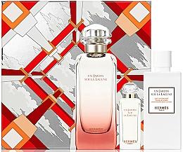 Parfums et Produits cosmétiques Hermes Un Jardin Sur La Lagune - Coffret (eau de toilette/100ml + eau de toilette/7.5ml + lotion corporelle/80ml)