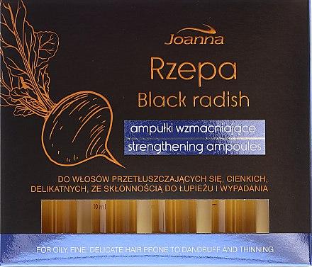 Ampoules capillaires anti-chute à l'extrait de navet noir - Joanna Turnip Description Strengthening Ampoules