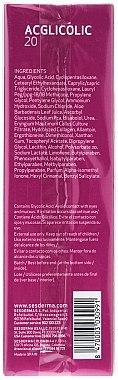 Gel-crème à l'acide glycolique 15% pour visage - SesDerma Laboratories 20 Moisturizing Gel — Photo N3