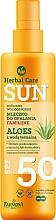 Parfums et Produits cosmétiques Lait solaire à l'aloe vera waterproof - Farmona Herbal Care Sun SPF 50
